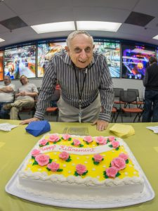 Al Moretti with retirement cake