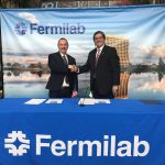 Fermilab signs an agreement with the University of Colima in February 2017. Photo: Reidar Hahn