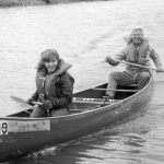 In 1975, John O'Meara and his daughter Sue placed third, with their time of 63 minutes, 16 seconds. Photo: Fermilab