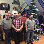 """Technical Division Christmas Tree and Staff"" by Melonie Hays"