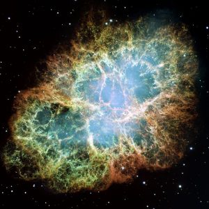 This image of the Crab Nebula was taken by NASA's Hubble Space Telescope.