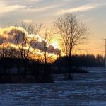 This cool sunrise image by the DZero outback was taken on Jan. 3. Photo: Ed Dijak, sunrise, sky, landscape, winter