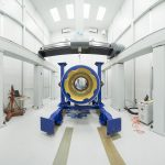 Fermilab built the lens-holding barrel of the Dark Energy Spectroscopic Instrument. Photo: Reidar Hahn