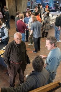More than 100 people turned out for the Jan. 19 UEC meet-and-greet in the Wilson Hall atrium. Photo: Reidar Hahn