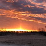 On the morning of March 5, you would have seen this fiery sunrise from the DZero outback. Photo: Ed Dijak, nature, landscape, sun, sunrise, winter, snow, cloud, sky