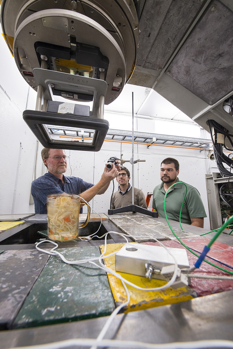 Innovation often appears when you aren't expecting it. In a recent test of Fermilab's new A2D2 accelerator, an IARC group boiled a cup of water using the machine, and they discovered cooked noodles — both scientifically and olfactorily delicious. Photo: Ramen Hahn and Dynamo Brando