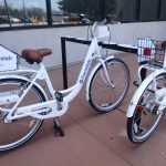 The Fermilab Bike Share Program has been going strong, so hop on a bike and check it out! (See Dave Andersen's column for details.) Photo: Georgia Schwender, everyday objects, lab life