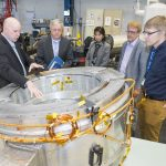 Stephen Binkley visits Fermilab