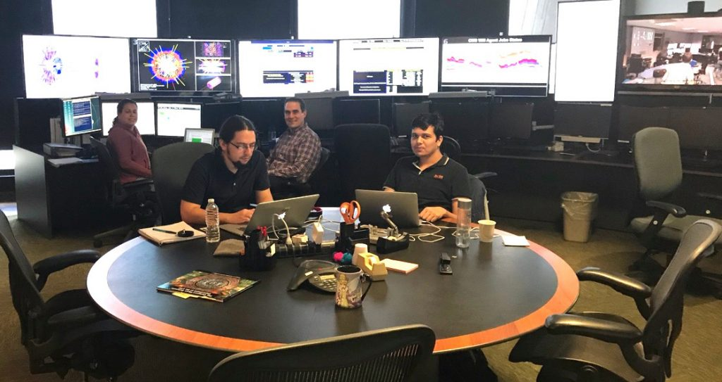 The Remote Operations Center at Fermilab keeps U.S. scientists vitally connected to activities at the CMS experiment. Photo: Gabriele Benelli