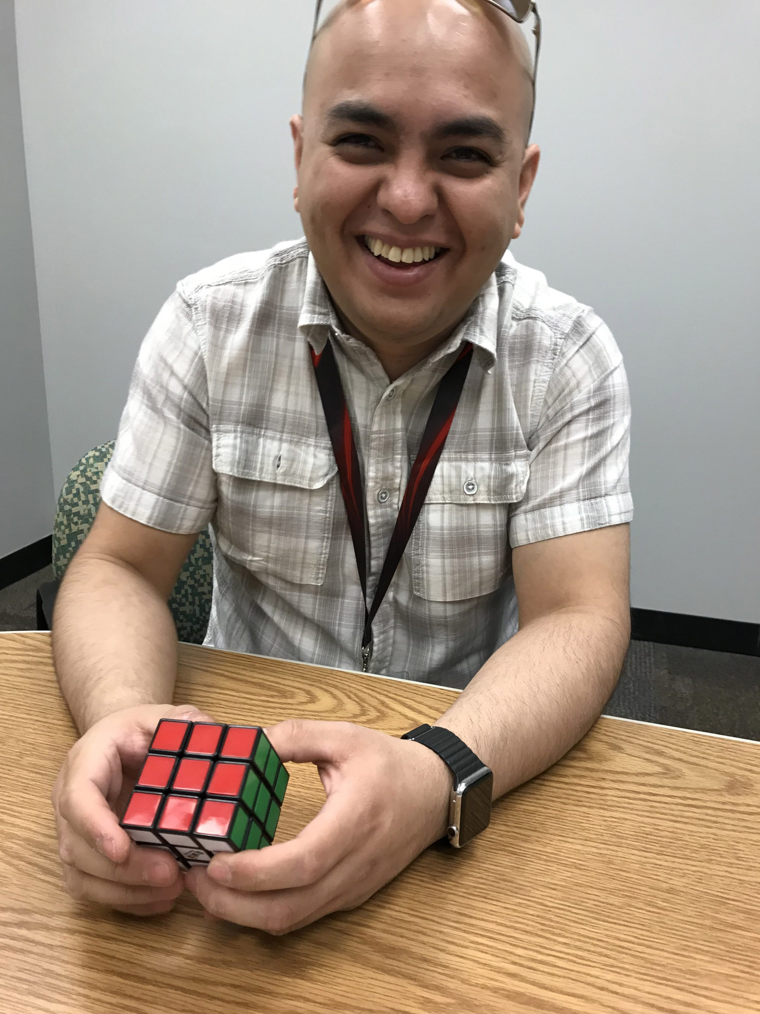 (2/2) He managed to solve it in about 30 seconds. Photo: Amy Scroggins, people