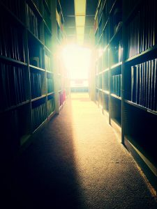 Check out the Fermilab Library holdings for some summer reading. Photo: Stephanie Timpone