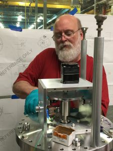 Rick Pierce works on a multiwire assembly that will be installed during the long summer shutdown in the Muon Campus. Photo: Christine Ader, people, lab life