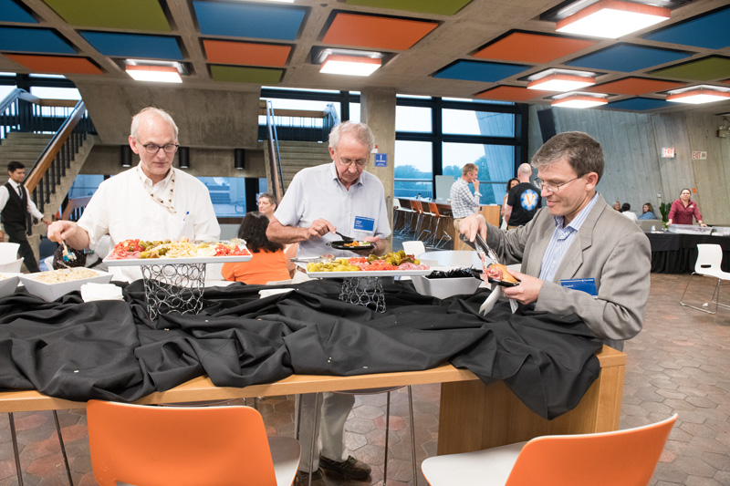 The conference banquet attracts hungry Fermilab scientist-users. Photo: Reidar Hahn