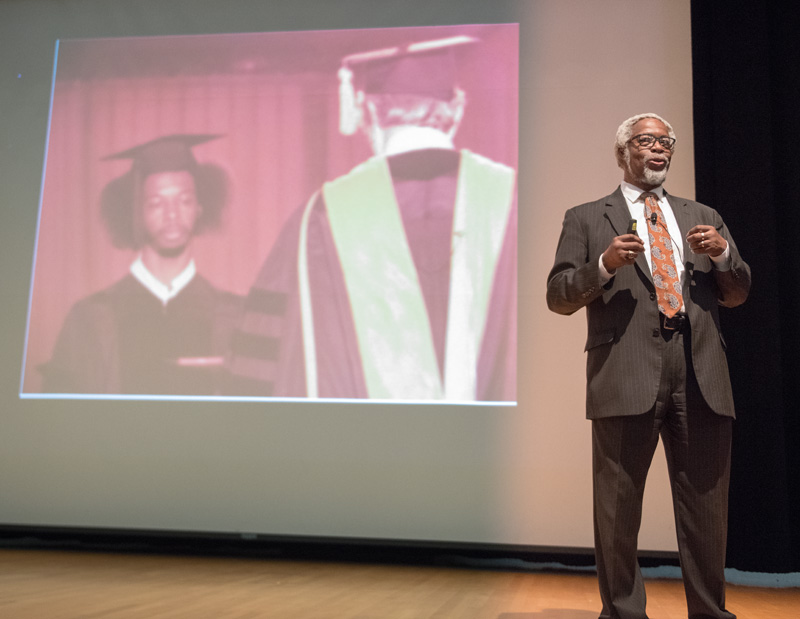 """""""Science was a pathway to adventure,"""" said Sylvester James Gates, Brown University. """"I knew science was something I wanted to get involved in very early in life."""" Photo: Reidar Hahn"""