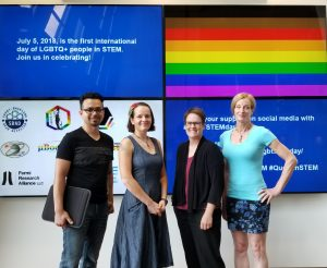 (2/3) From left: Mario Lucero, Valery Stanley, Callie Surber, Erica Snider. Photo courtesy of Erica Snider, people, diversity, inclusion