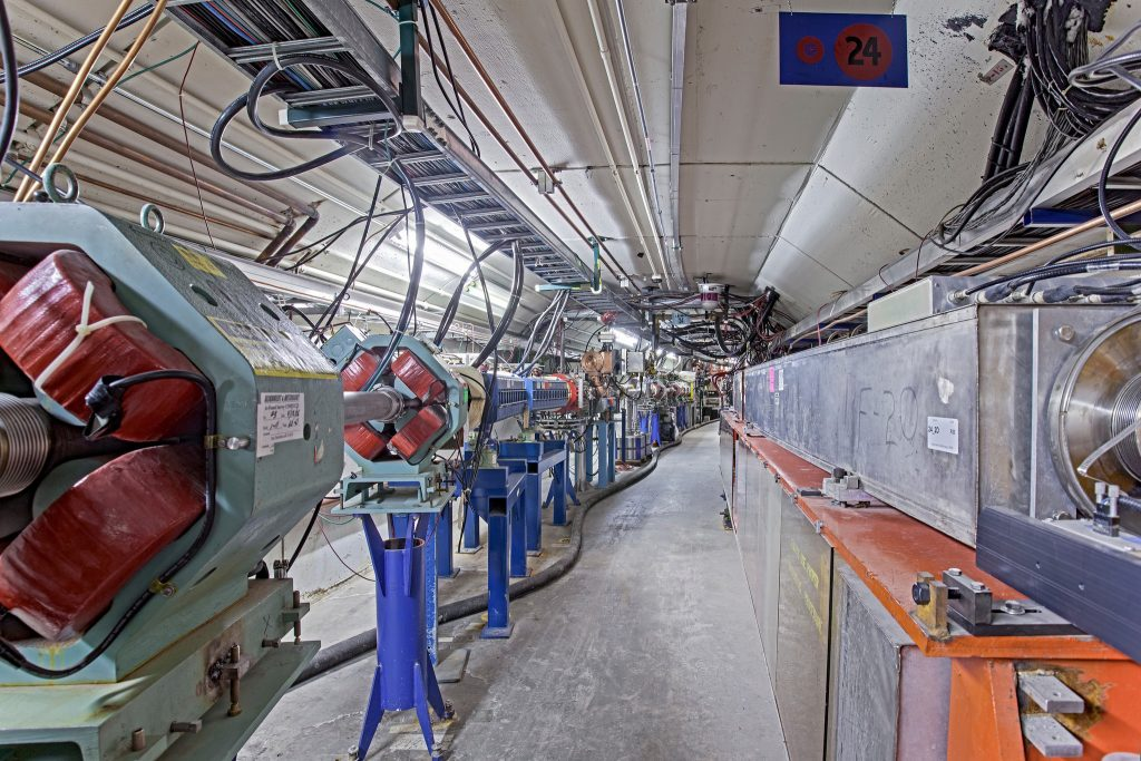 The Fermilab Booster accelerator delivers beam to all of the lab's accelerator-based experiments. Photo: Marty Murphy