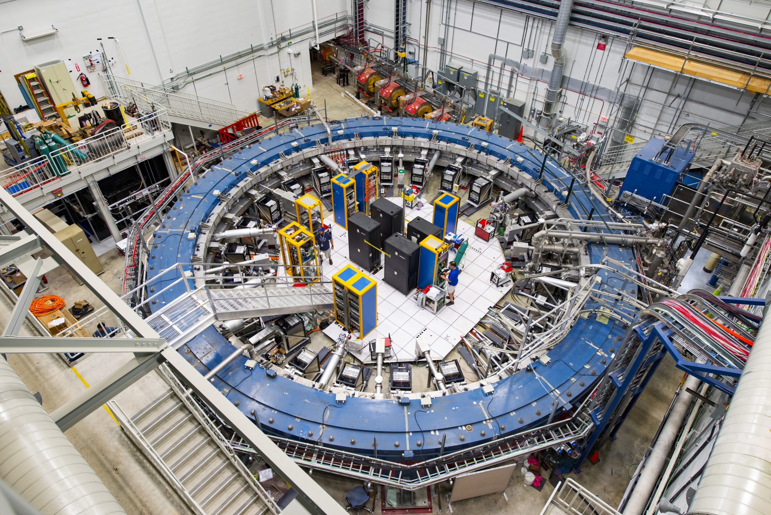 The Muon g-2 experiment takes advantage of the lab's powerful accelerator complex. Fermilab scientists have already collected twice the amount of total data gathered over its four years at Brookhaven National Laboratory, where the experiment ran prior to coming to Fermilab. Photo: Reidar Hahn