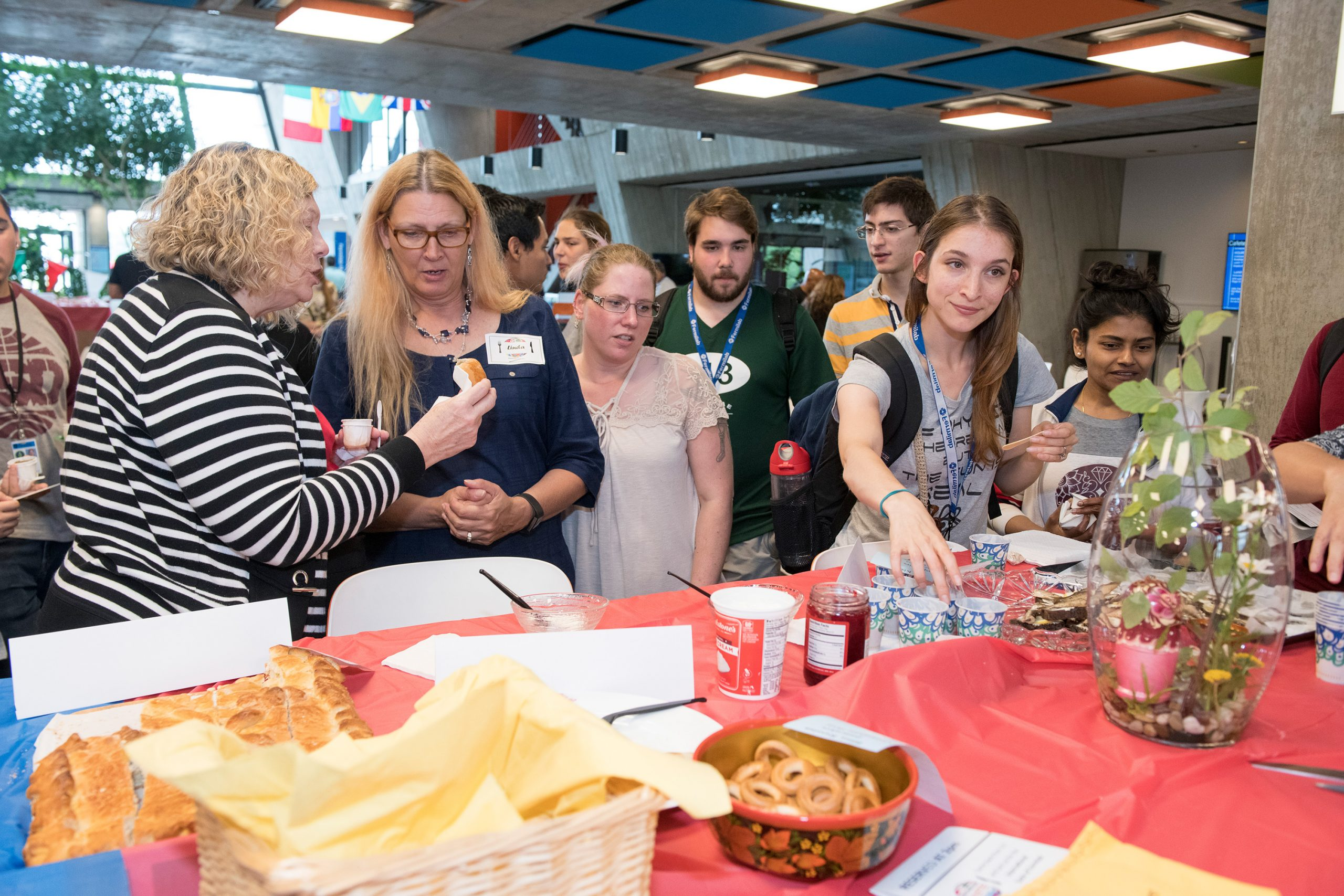 The Russia table had the widest variety of food samples. Photo: Reidar Hahn