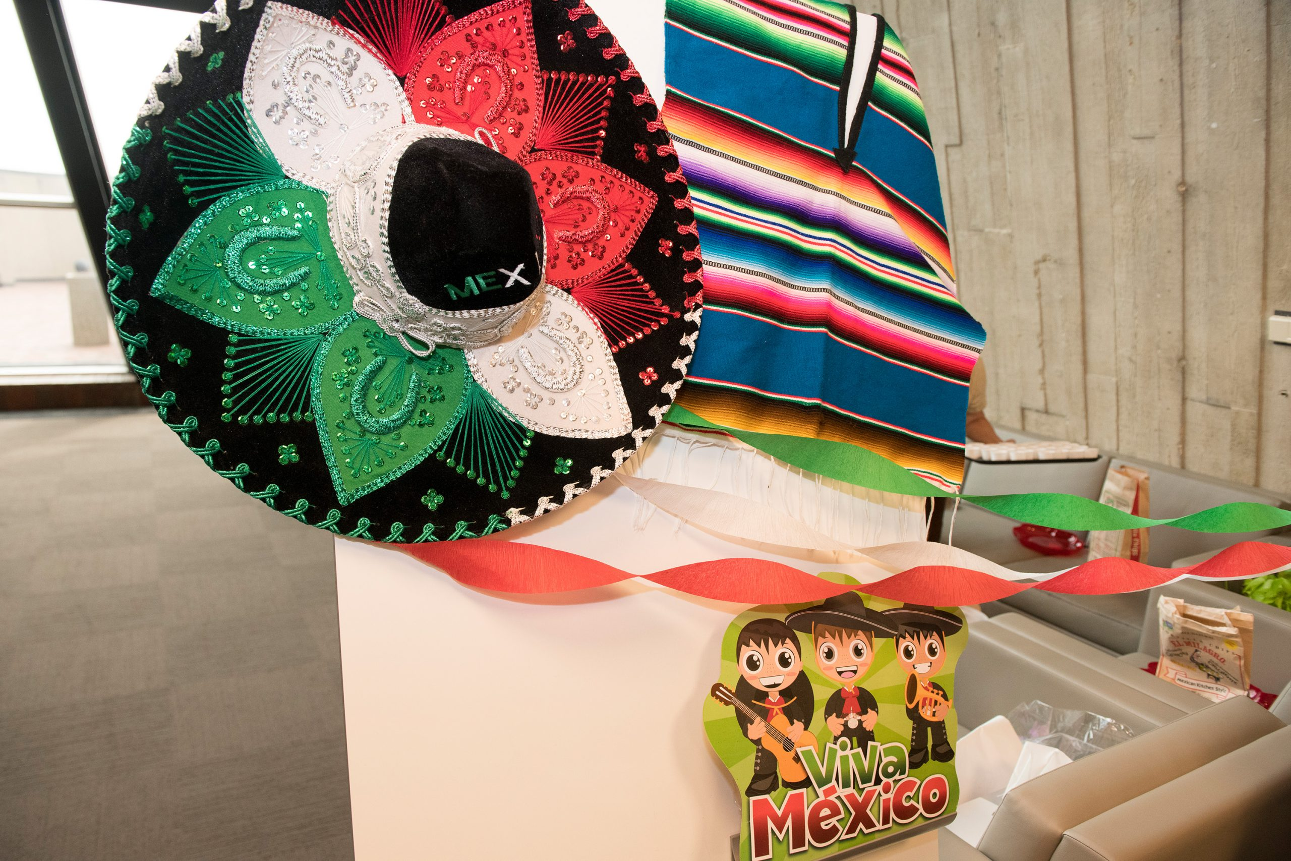 The Mexico table was fully decked out. Photo: Reidar Hahn