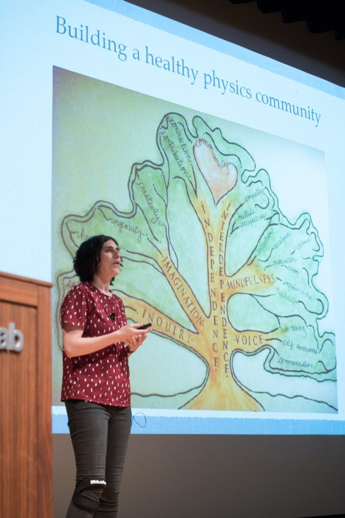 University of Washington scientist Sarah Tuttle discusses inclusion and diversity in science. Photo: Reidar Hahn