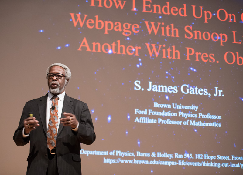 Brown University Professor James Gates gives the keynote address at the Users Meeting. Photo: Reidar Hahn