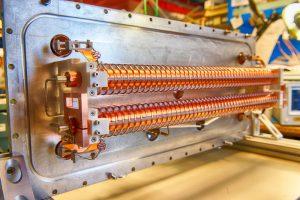 This is the assembled 200-ohm kicker for the MEBT chopper. Photo: Reidar Hahn