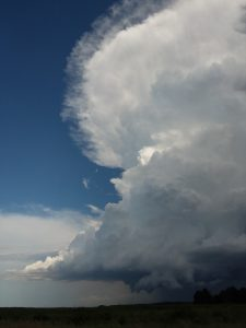 It's a tower of power — a view of a stormcloud from Road C. cloud, sky, nature, landscape, storm Photo: Greg Derylo