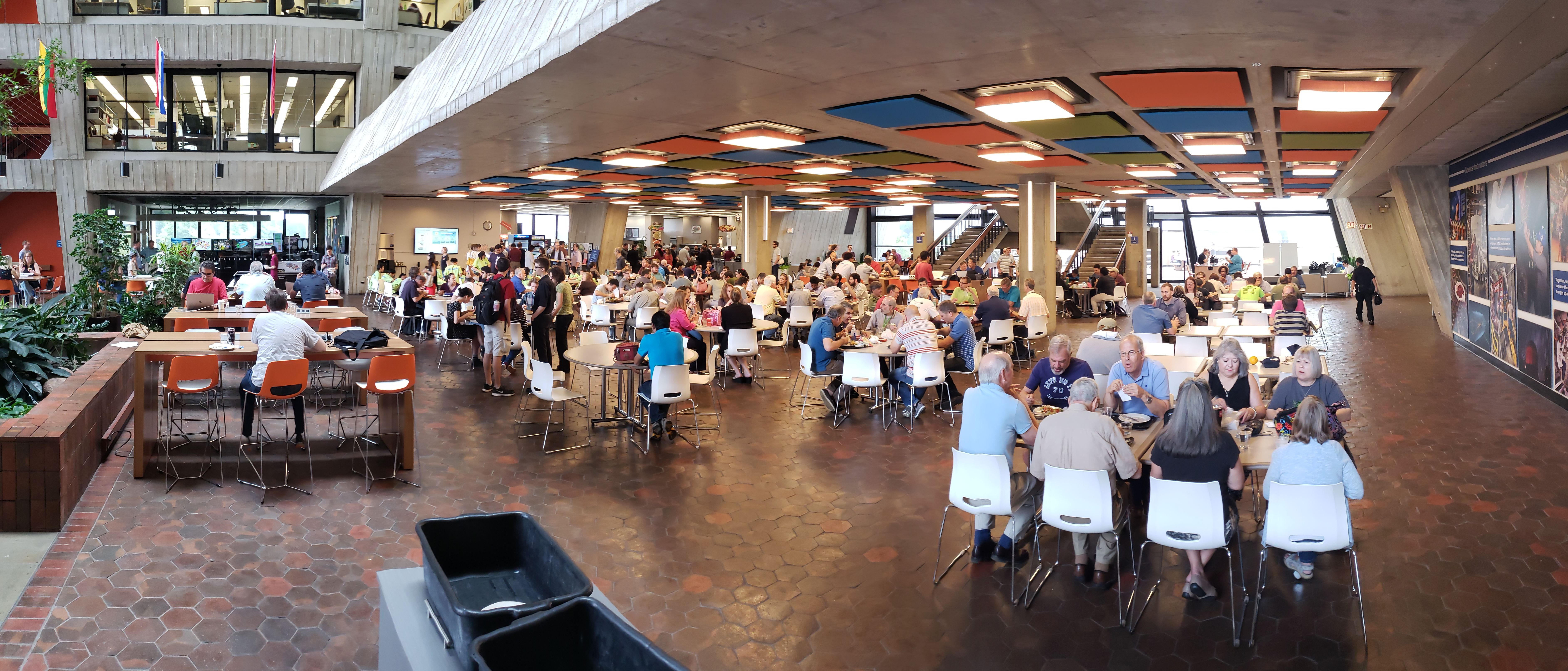 The cafeteria was packed at noon on Wednesday, Aug. 1. people, lab life Photo: Elliott McCrory