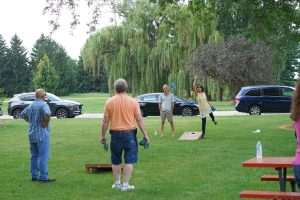 (4/5) Employee enjoyed bags games at the picnic. lab life, people Photo: Leticia Shaddix
