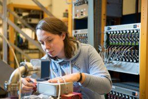 Saskia Charity is a postdoc on the Muon g-2 experiment. Photo: Reidar Hahn