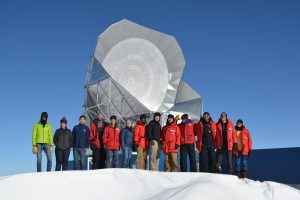 The South Pole Telescope team, led by the University of Chicago, Fermilab and Argonne National Laboratory. Photo courtesy of Brad Benson
