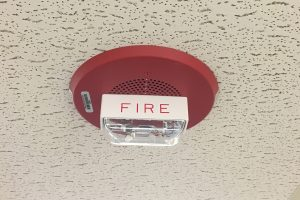 This audio/visual device is audially and visually loud, alerting a building's occupants that they need to head to safety. Photo: Andrew McDaniel