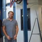While working at SiDet, Javier Tiffenberg and Guillermo Moroni enjoy the tours as well. Photo: Leticia Shaddix