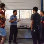 Lenny Spiegel explains the CMS work done at SiDet. Photo: Leticia Shaddix