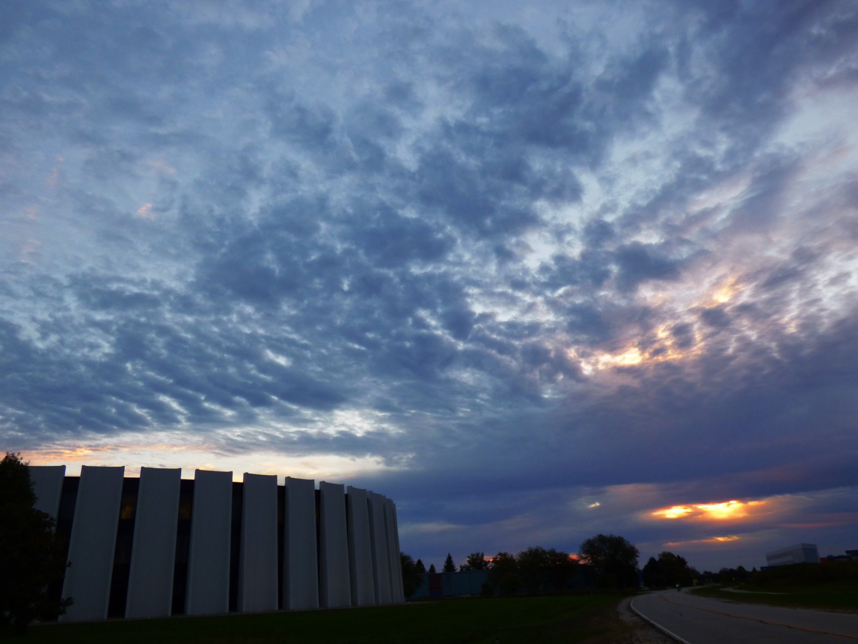(2/3) ... begin to cover the sky over Feynman Computing Center ... nature, landscape, cloud, sky, Feynman Computing CenterPhoto: Amy Scroggins