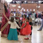 Even the children joined in during the dance! Photo: Elliott McCrory