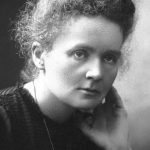 On the occasion of the 150th anniversary of Marie Curie's birth, the author recognizes pioneering women in physics. Photo courtesy of Nobel Foundation Archive.