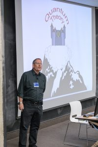 California Institute of Technology physicist John Preskill discussed advances in quantum information science at the workshop's colloquium. Photo: Reidar Hahn