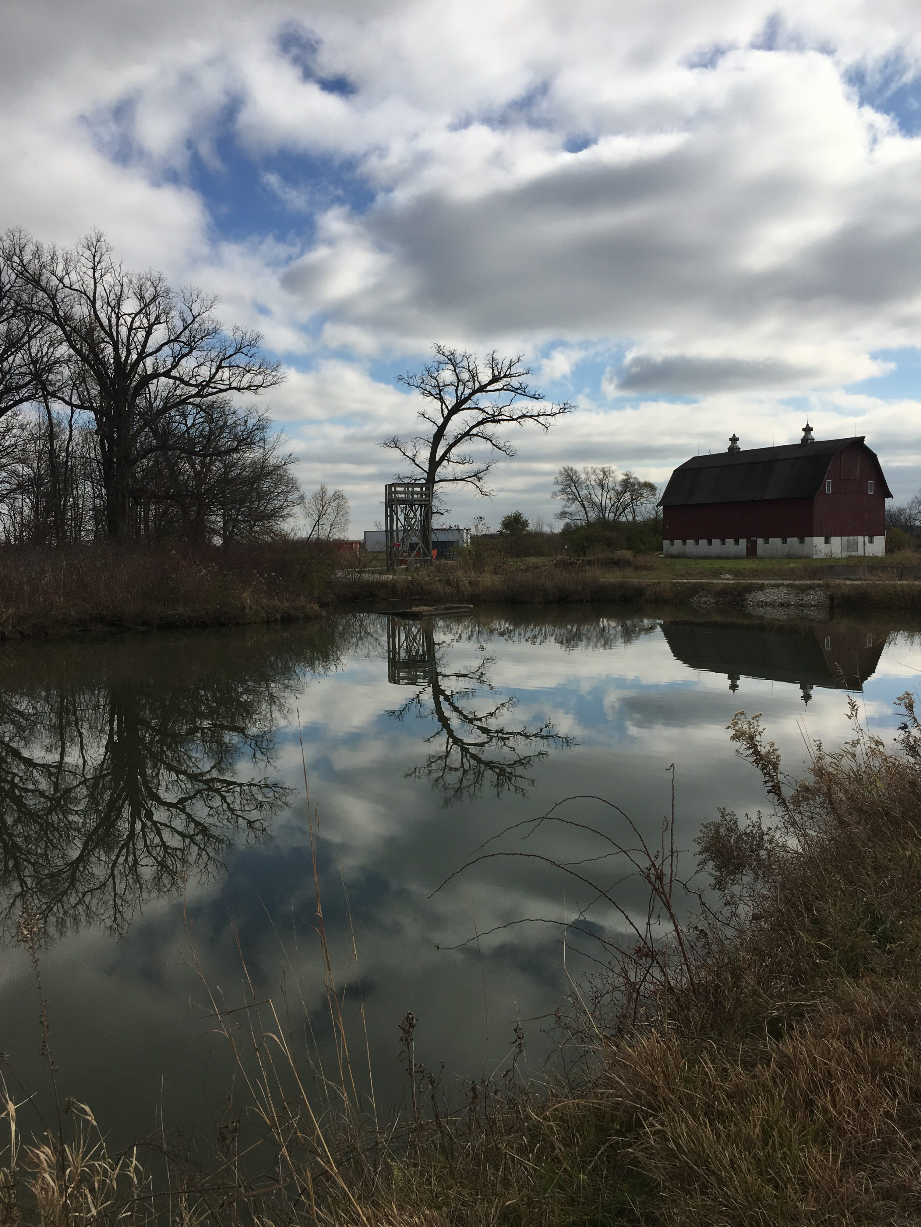 Nature presents some fantastic scenery on Main Ring Road. nature, landscape, cloud, sky, building, tree, water Photo: Christine Ader