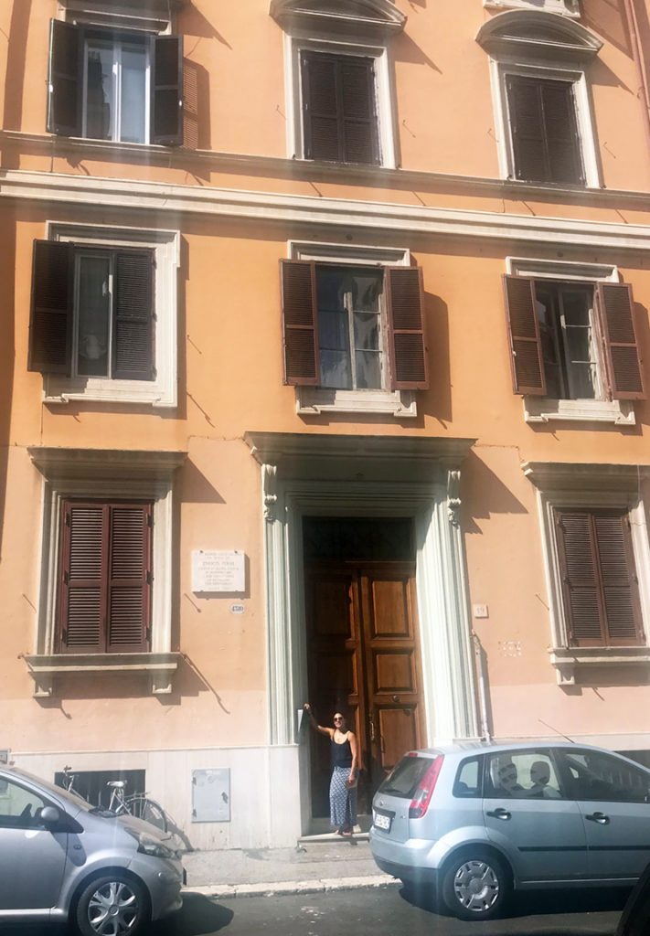 (1/2) During a vacation in Rome, Italy, Diana  Brandonisio and her husband stumbled upon Enrico Fermi's birthplace (apartment complex) just a few doors down from their hotel. It's the home where he was born on Sept. 29, 1901. people, history Photo: Diana Brandonisio