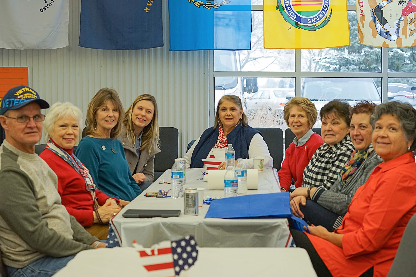 Members of the Quilts of Valor were in attendance at Fermilab's Veterans Day celebration. Photo: Leticia Shaddix
