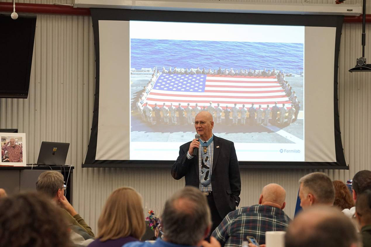 Medal of Honor recipient Allen Lynch talks about unifying the country. Photo: Leticia Shaddix