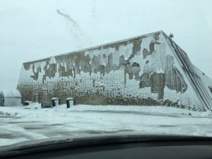 (1/3) After the first heavy snowfall of the season, Nov. 26, an interesting pattern forms on the side of the Transfer Gallery. nature, landscape, snow, building Photo: Katee Peters