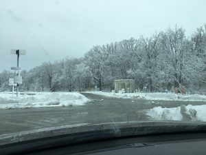 (3/3) Roads were cleared soon afterward. Thanks, Roads and Grounds. snow, ladnscape, nature Photo: Katee Peters