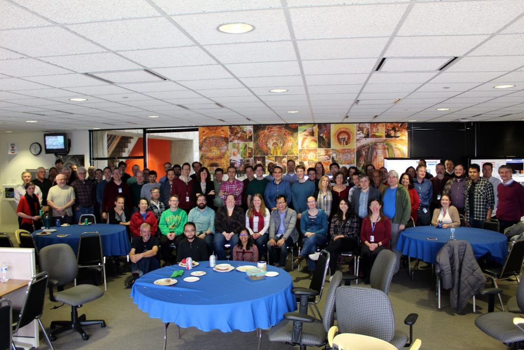 Many members of the CMS community at Fermilab gathered for the 2018 holiday party on Friday, Dec. 14. Photo: Marguerite Tonjes