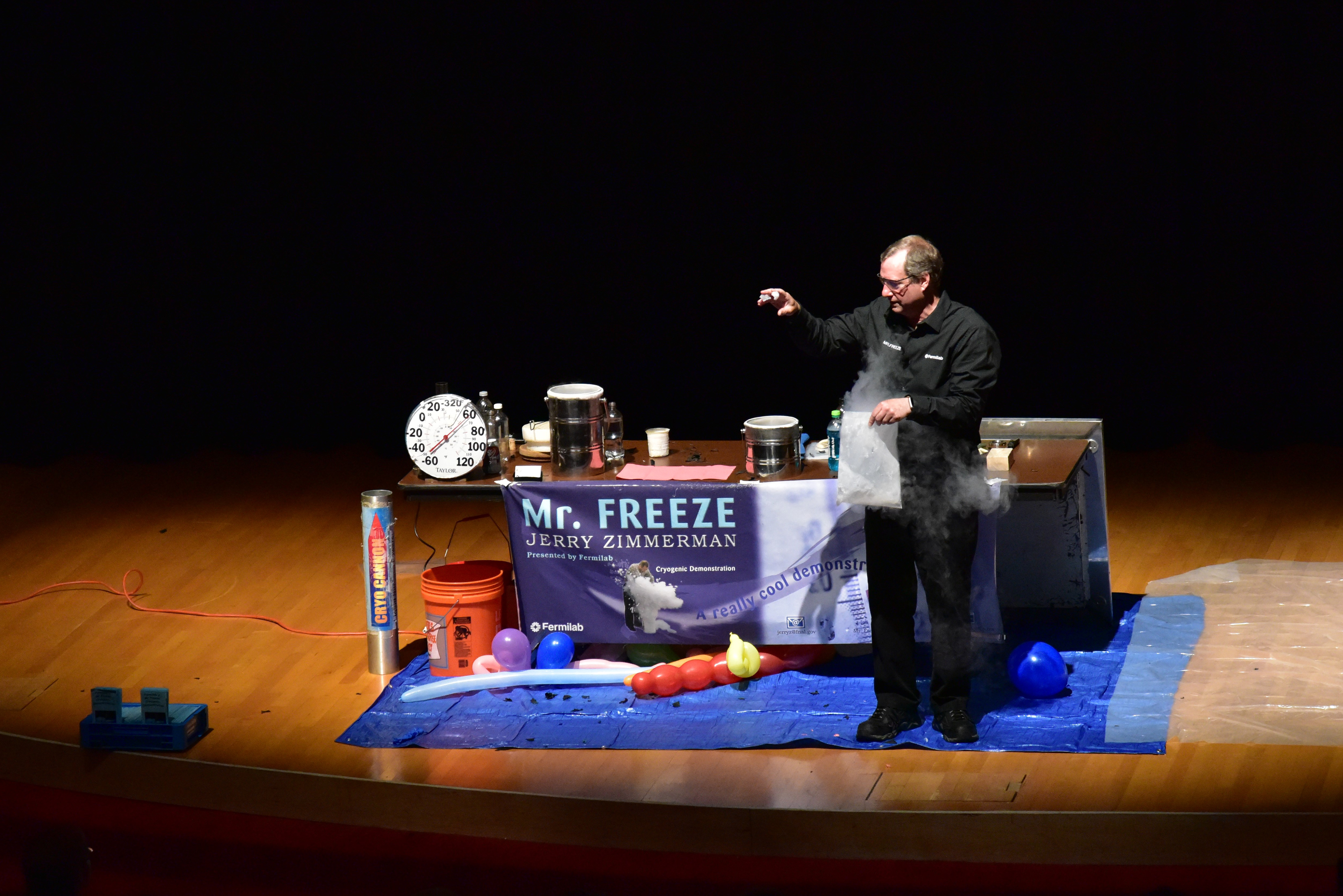 (1/2) Oh, oh, frozen fingers! Jerry Zimmerman performs a wonderful cryogenics demonstration as Mr. Freeze at DASTOW 2017. people Photo: Leticia Shaddix