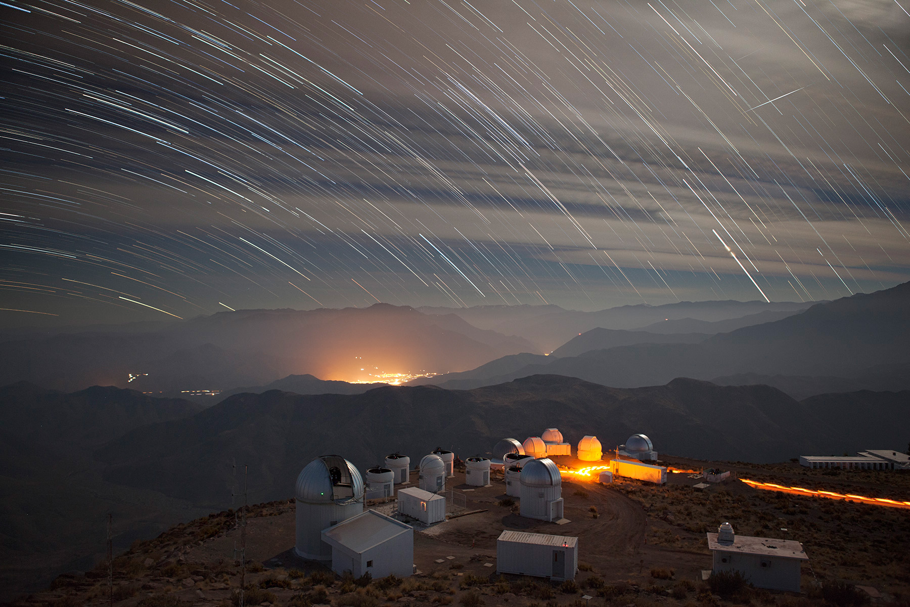 "This Chilean mountaintop is the home of the Dark Energy Camera. See a <a href=""https://youtu.be/m4_rAr9fzaw"">5-minute video</a>, created by the photographer, of time-lapse clips from the Blanco telescope. astrophysics, Dark Energy Camera, Dark Energy Survey, time-lapse Photo: Marty Murphy"