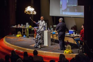 Fermilab's annual Wonders of Science show will feature eye-popping chemistry and physics demonstrations for the whole family to enjoy. Photo: Reidar Hahn