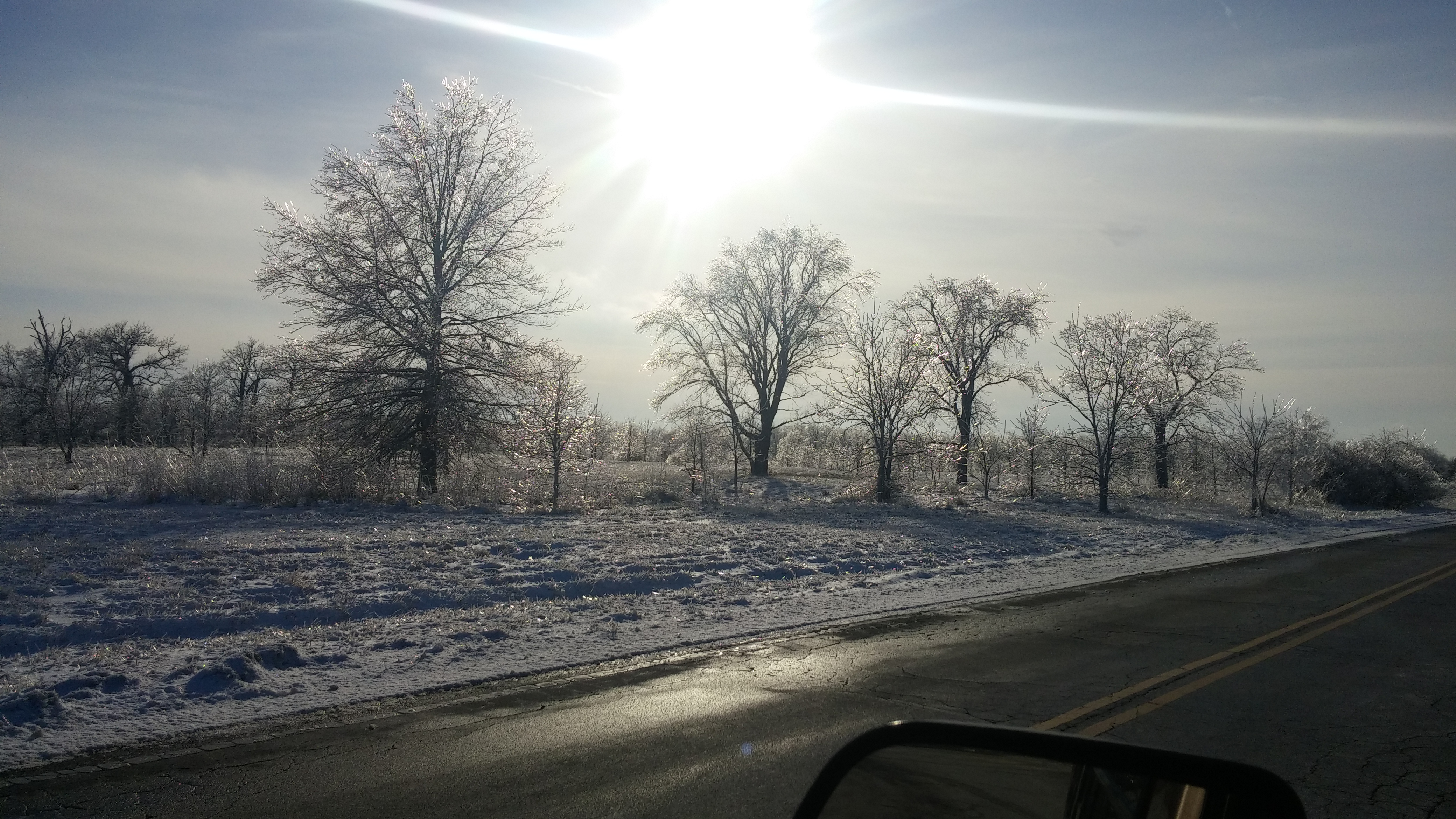 (2/2) It occurred just after an ice storm. nature, landscape, winter, sky, sun, tree, plant, snow Photo: Greg Sellberg