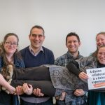 (1/3) Members of the LHC Physics Center took photos to express #BalanceForBetter for the CMS experiment celebration of International Women's Day 2019. A diverse collaboration is a balanced experiment. We help each other out. LPC support staff Marguerite Tonjes and Gabriele Benelli provide support together with Alexx Perloff and Scarlet Norberg for Susan Dittmer. people, diversity Photo: Marguerite Tonjes